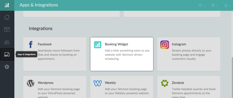 how to add a scheduling widget shopify